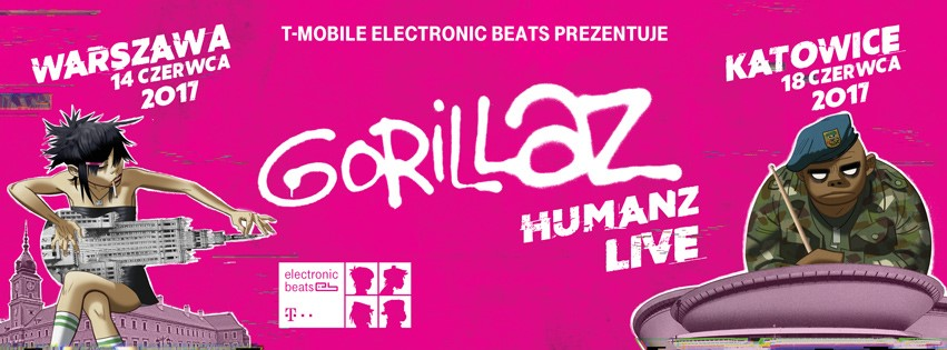Gorillaz Humanz - koncert Warszawa i Katowice
