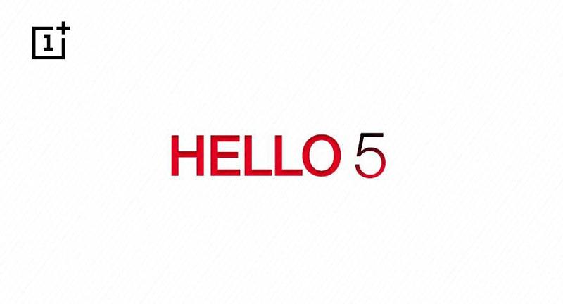 OnePlus 5 - teaser HELLO 5