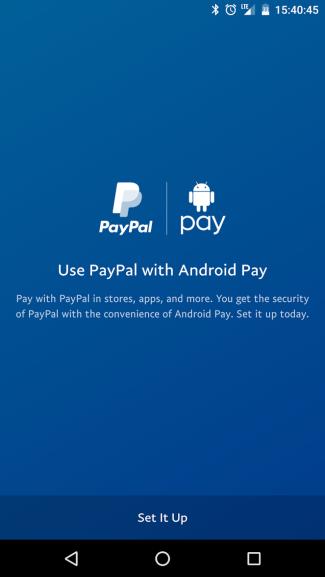 PayPal w aplikacji Android Pay