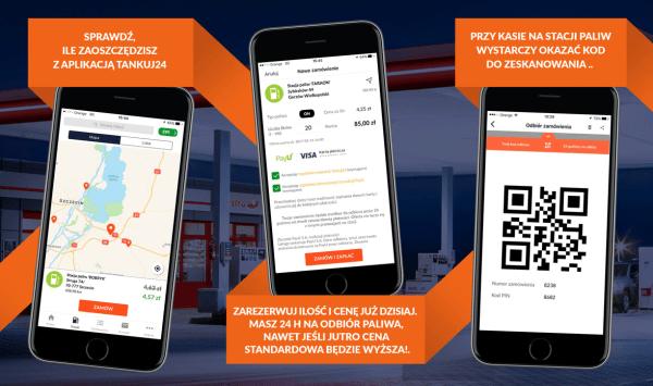 Tankuj24 z tą aplikacją mobilną kupisz paliwo taniej