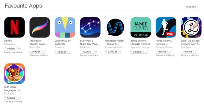 Ulubione aplikacje w sklepie App Store (maj 2017)
