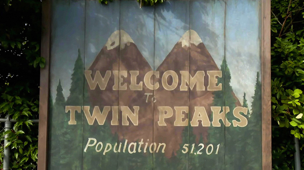 "Tablica ""Welcome to Twin Peaks - Population 51,201"""
