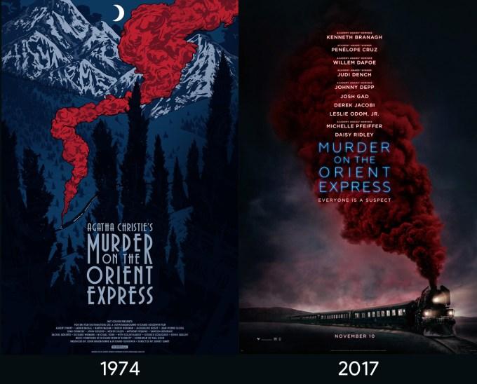 """Plakaty do filmu """"Morderstwo w Orient Expressie"""" z 1974 i 2017 roku"""