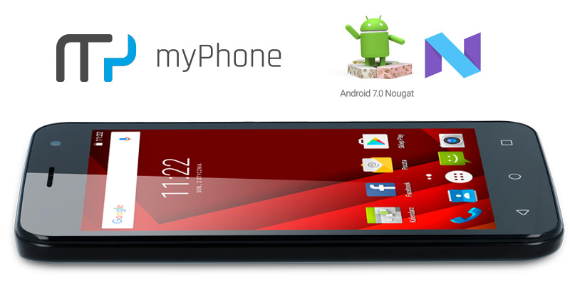 myPhone GO! (aktualizacja do systemu Android 7.0 Nougat)