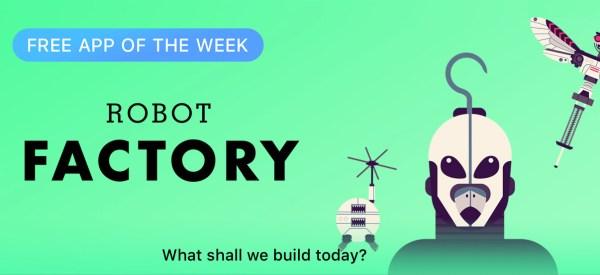 """Aplikacja """"The Robot Factory"""" za darmo w App Storze"""