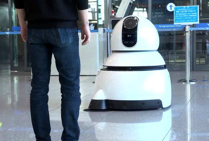 LG Airport Cleaning Robot