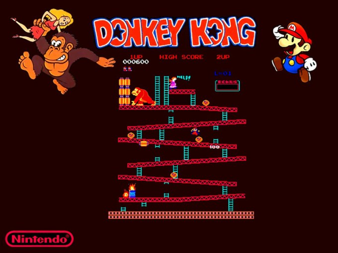 Donkey Kong i Mario (Nintendo 1981)