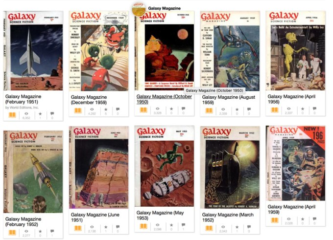 Galaxy magazine Science Fiction - archiwum online