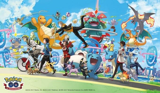 Obchody rocznicy gry Pokemon GO