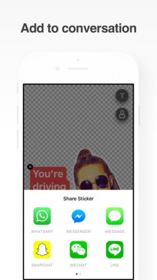 Screen z aplikacji Sticky AI