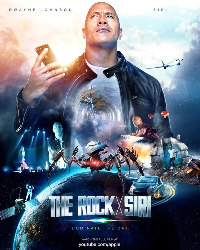 The Rock x Siri Dominate the Day (Dwayne Johnson - The Rock)