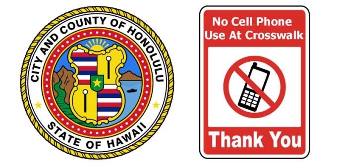 Zakaz korzystania z telefonów komórkowych na przejściach dla pieszych w Honolulu