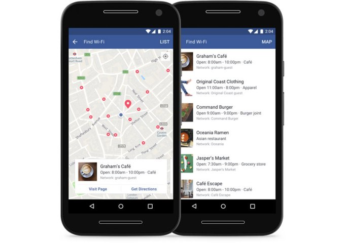 """Znajdź Wi-Fi"" (Find WiFi) Facebook Mobile"
