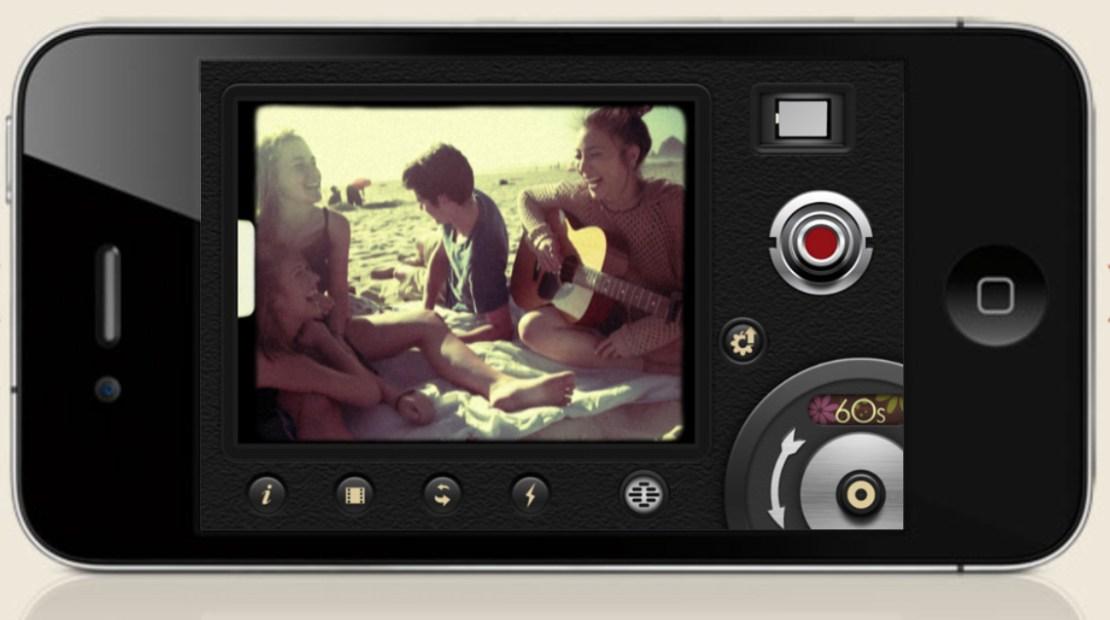 Screen aplikacji 8mm Vintage Camera