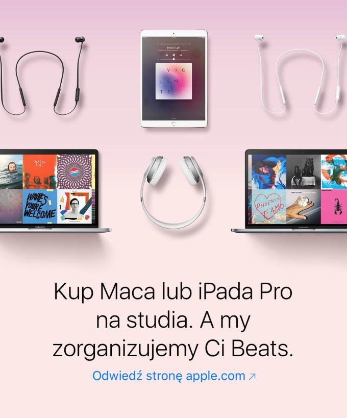 Słuchawki Beats gratis przy zakupie Maca lub iPada Pro