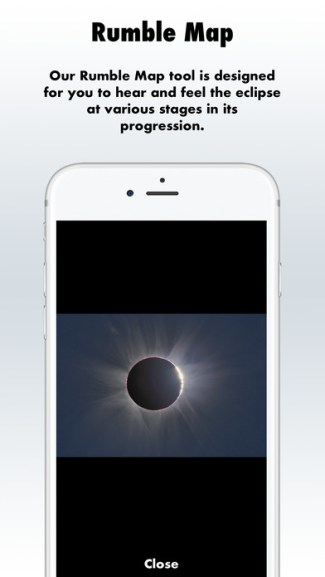 Eclipse Soundscapes - Rumble Map (screen iOS)