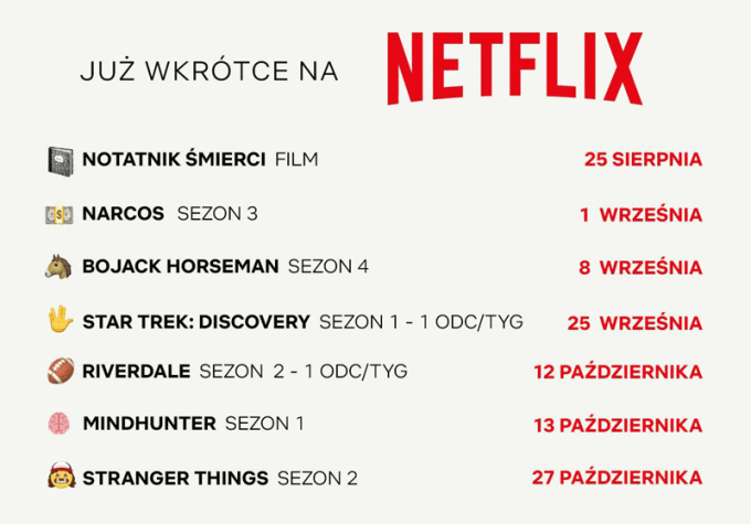 Jesienne premiery seriali w serwisie Netflix (2017)