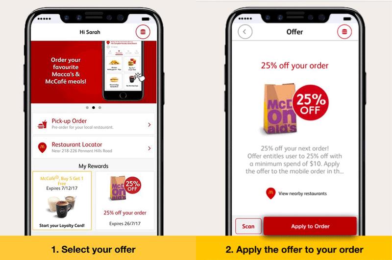 iPhone 8 w reklamie aplikacji McDonalnd's Australia (mymacca)