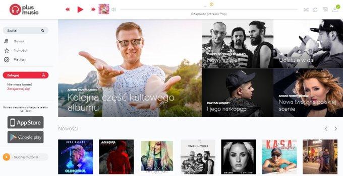 Screen z serwisu Plus Music