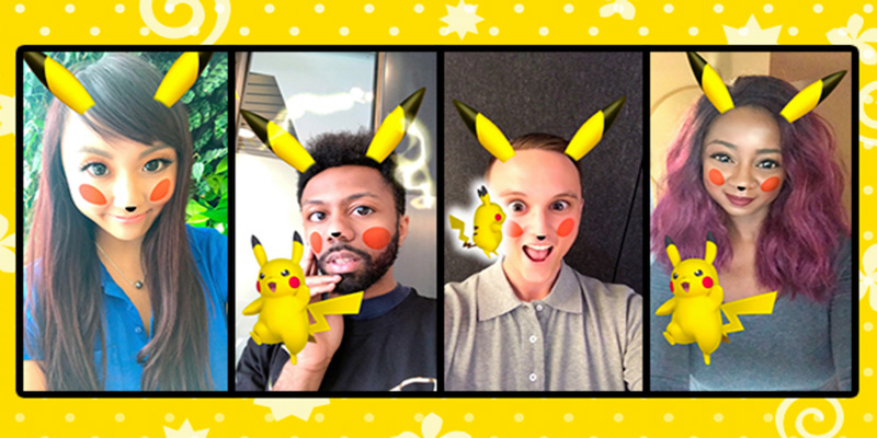 Snapchat - Pokemon Pikachu - filtr animowany