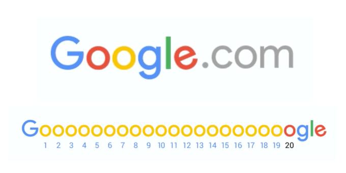 20 lat domeny Google.com