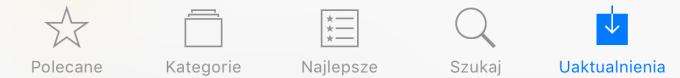 App Store - Uaktualnienia