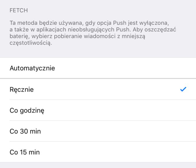 Fetch i Push - pobieranie danych (iOS 11)