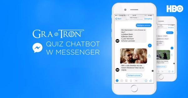 "Quiz o ""Grze o tron"" z chatbotem HBO na Messengerze"