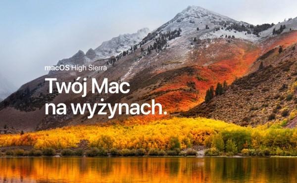 Finalna wersja macOS High Sierra 10.13 dostępna do pobrania