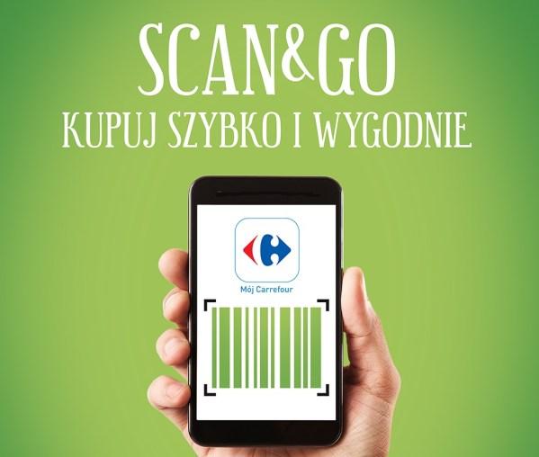 """Płatności mobilne """"Scan&Go"""" w sklepach Carrefour"""