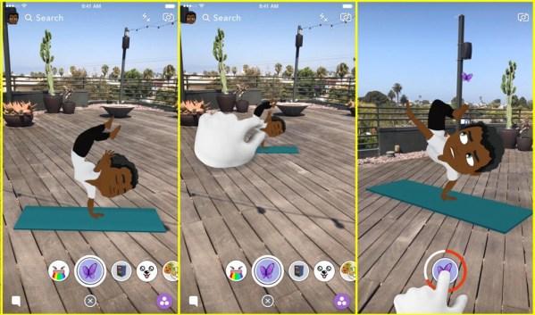 Bitmoji na Snapchacie są teraz animowane i w 3D