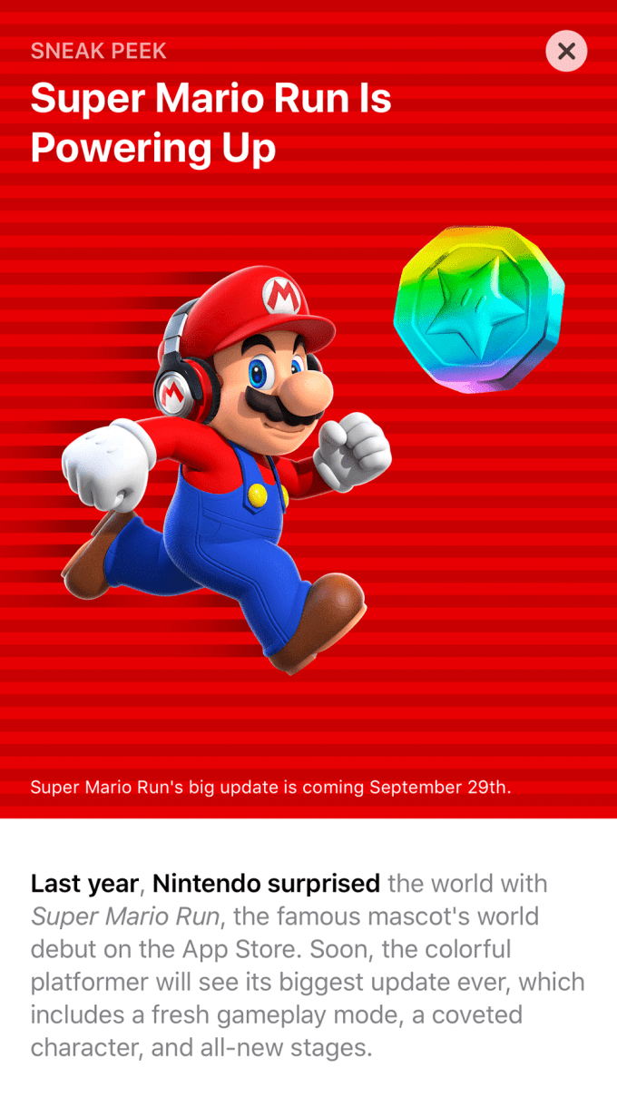 Super Mario Run - Sneak Peak w App Store