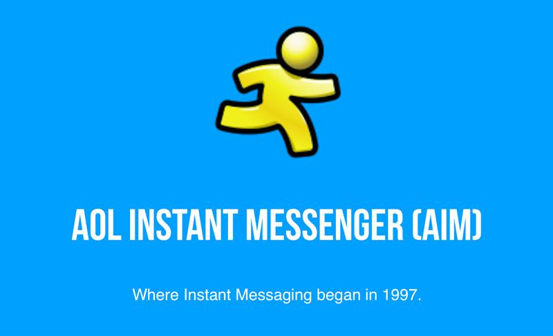 (AIM) AOL Instant Messenger (1997-2017)
