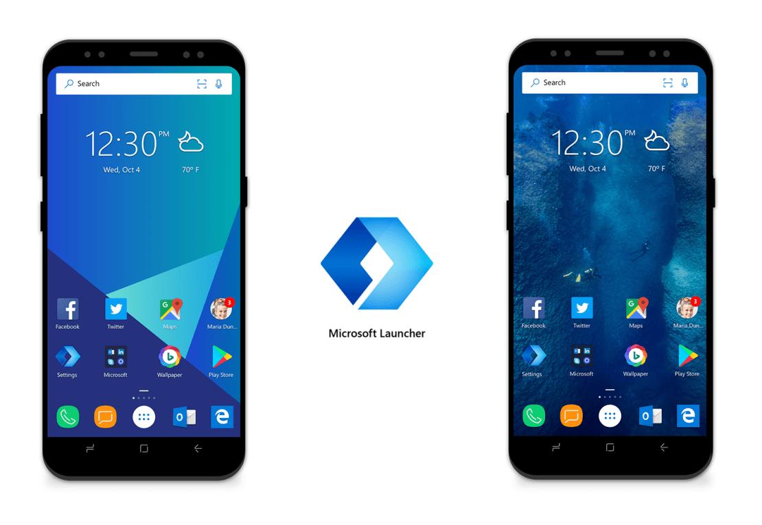 Microsoft Launcher na Androida