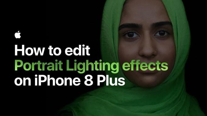 Oświetlenie sceniczne w iPhone 8 Plus