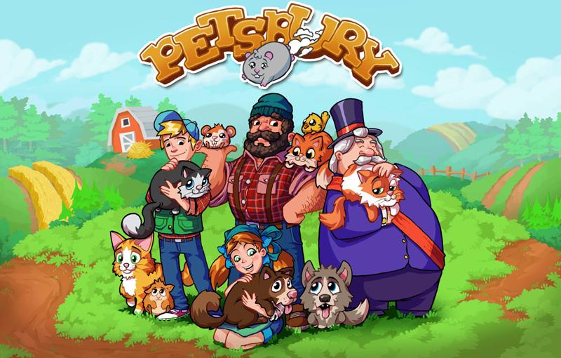 Petsbury - adoptuj zwierzaki (gra iOS, Android)
