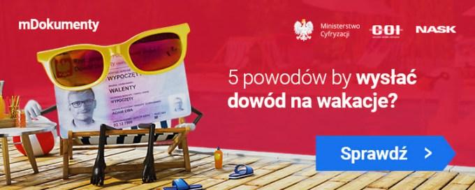 Banner promujący projekt mObywatel w internecie