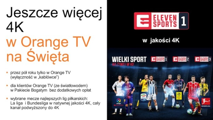 Eleven Sport 1 (4K) w Orange TV