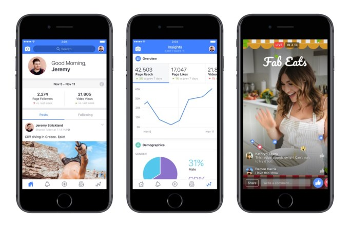 Aplikacja mobilna Fcebook Creator