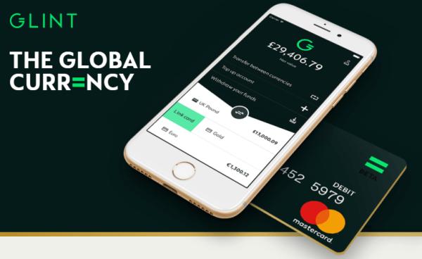 Glint oferuje konto walutowe i kartę obsługującą wydawanie złota