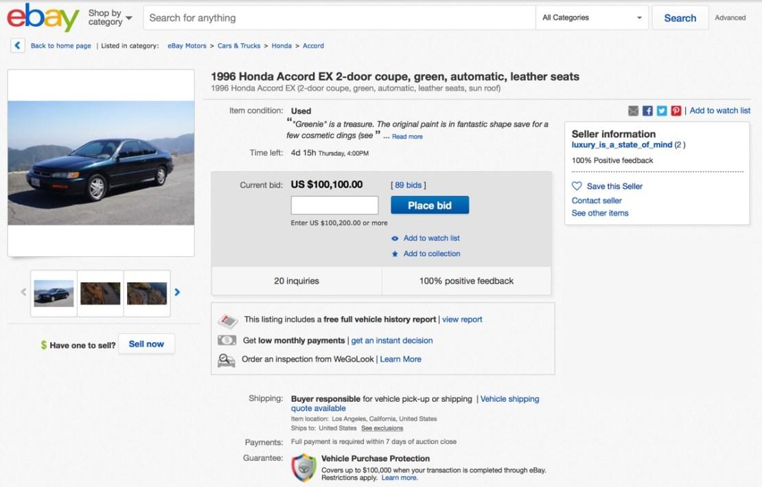 Screen z serwisu eBay (5 listopada 2017 godz. 00:30)
