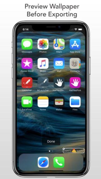 Screen tapety z aplikacji Notcho