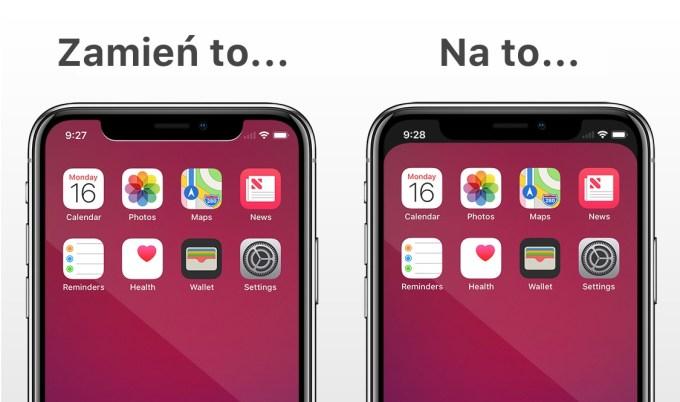 Aplikacja Notcho pozwala ukryć wycięcie w iPhonie X