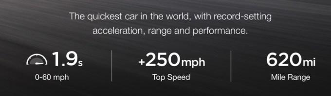 Osiągi samochodu Tesla Roadster