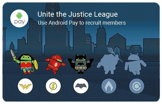 Karta z superbohaterami w aplikacji