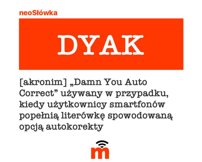 Akronim DYAK (neosłówka)