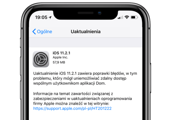 iOS 11.2.1 dostępny do pobrania w trybie OTA