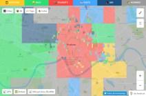 Kraków - mapa Hoodmaps