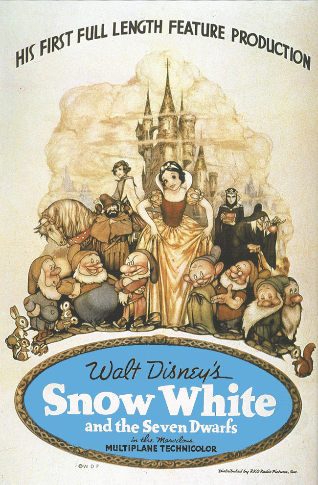 """Plakat filmu """"Królewna Śnieżka"""" Disneya z 1937 roku"""