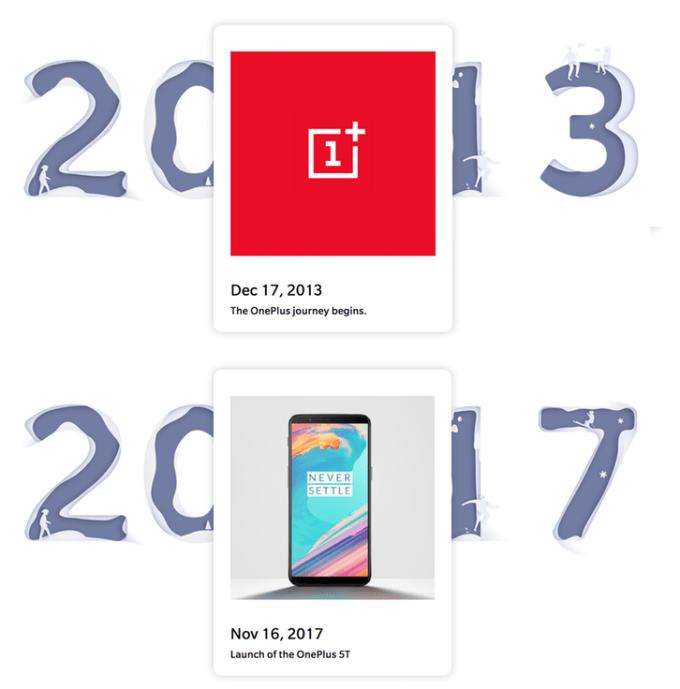 4-lecie firmy OnePlus (2013-2017)